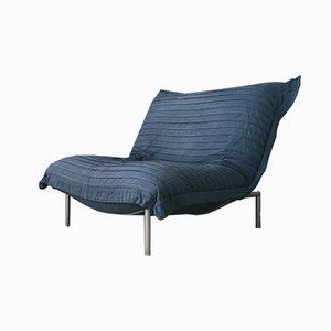 Blauer Calin Sessel von Pascal Mourgue für Cinna, 1980er
