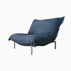 Blue Calin Lounge Chair by Pascal Mourgue for Cinna, 1980s