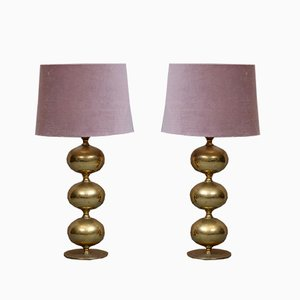 Brass Table Lamps from Tranås Stilarmatur, 1950s, Set of 2