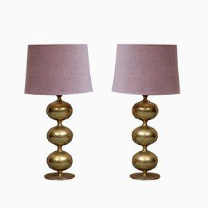 Tischlampen aus Messing von Tranås Stilarmatur, 1950er, 2er Set