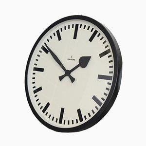 Orologio da stazione ferroviaria di Siemens, Germania, anni '50