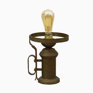 Lámpara de mesa de latón, años 50