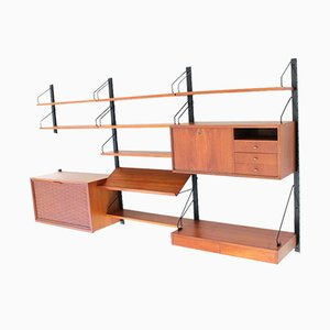 Teak Wall Shelving Unit by Poul Cadovius for Royal System, 1960s