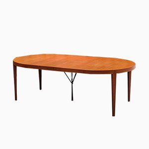 Tavolo da pranzo allungabile in teak di Severin Hansen per Haslev Mobelsnedkeri, anni '60