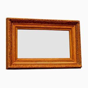 Espejo francés antiguo rectangular dorado