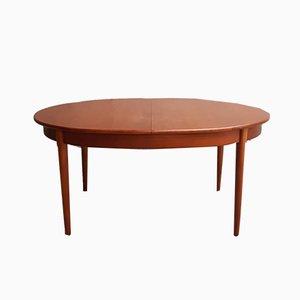 Mesa de comedor extensible Mid-Century de teca