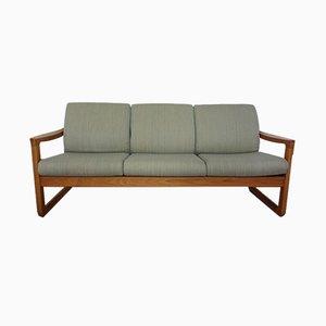 Sofá de tres plazas de teca de CFC Silkeborg, años 60