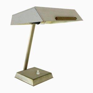 Lampada da scrivania in metallo grigio, anni '60
