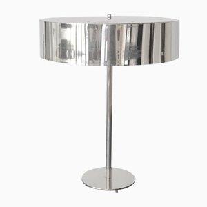Chromed Metal Modernist Table Lamp, 1970s