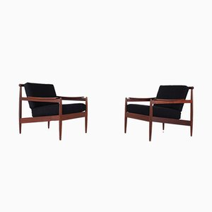 Mid-Century Armchairs by Jos de Mey for Luxus, 1960s, Set of 2