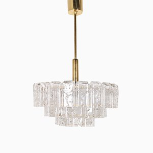 Vintage German Chandelier from Doria Leuchten, 1970s