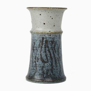 Handbemalte & glasierte Vase aus Schamotte von Drejargruppen für Rörstrand, 1972
