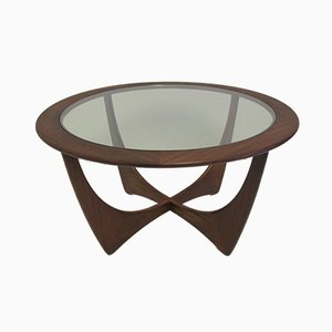 Round Astro Teak Coffee Table by Victor Wilkins for G-Plan, 1950s