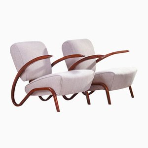 Art Deco H 275 Armchairs by Jindřich Halabala, 1936, Set of 2