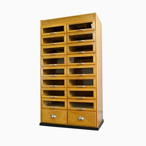 Glass Fronted Haberdashery Filing Cabinet, 1950s