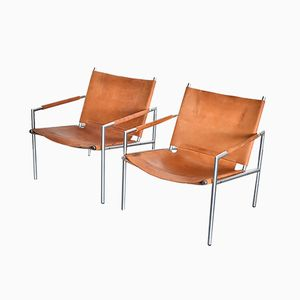 SZ02 Armchairs by Martin Visser for 't Spectrum, 1970s, Set of 2