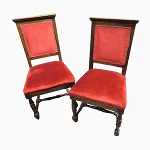 19th Century Antique Side Chairs, Set of 2