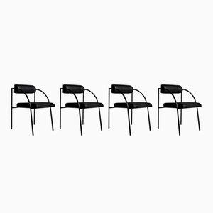 Wiener Esszimmerstühle von Rodney Kinsman für Bieffeplast, 1982, 4er Set