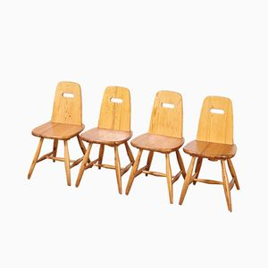 Finnish Pirtti Chairs by Eero Aarnio for Laukaan Puu, 1960s, Set of 4