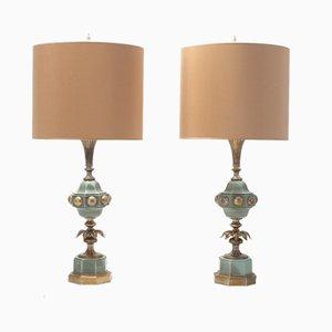 Lámparas de mesa Hollywood Regency, años 50. Juego de 2