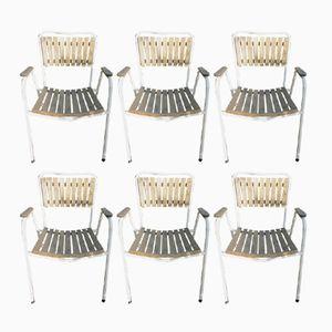 Chaises de Salle à Manger Empilables Vintage de Daneline, Danemark, 1970s, Set de 6