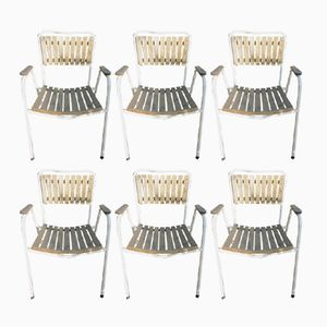 Vintage Danish Stacking Garden Chairs from Daneline, 1970s, Set of 6