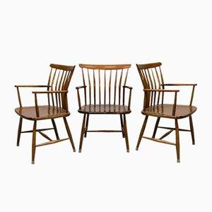 Schwedische Esszimmerstühle von Bengt Akerblom für Akerblom, 1950er, 5er Set