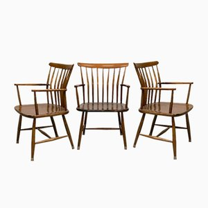 Swedish Dining Chairs by Bengt Akerblom for Akerblom, 1950s, Set of 5