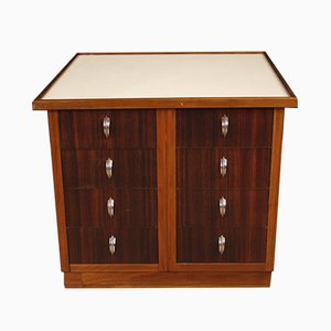 French Mahogany, Palisander and Beech Chest of Drawers, 1960s