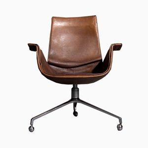 Chaise de Bureau Pivotante Tripode par Preben Fabricius & Jørgen Kastholm pour Kill International, 1960s