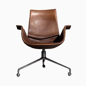 Swivel Tripod Desk Chair by Preben Fabricius & Jørgen Kastholm for Kill International, 1960s