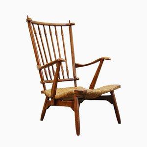 Vintage Armlehnstuhl aus Teak von De Ster Geldermalsen