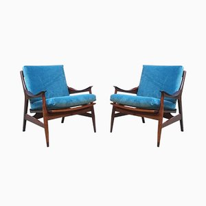 Vintage Easy Chairs, 1960s, Set of 2