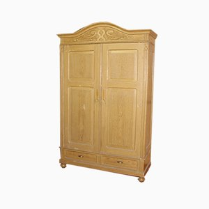 Antique Two-Door Dome Top Pine Armoire, 1910s