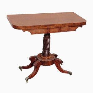 Tavolo da gioco Regency in mogano, inizio XIX secolo