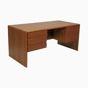 Danish Teak Desk by Bent Silberg, 1980s