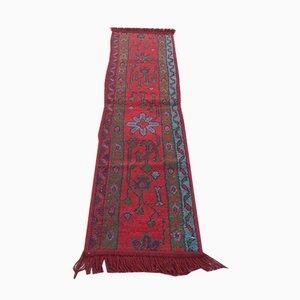 Alfombra de pasillo turca vintage estrecha