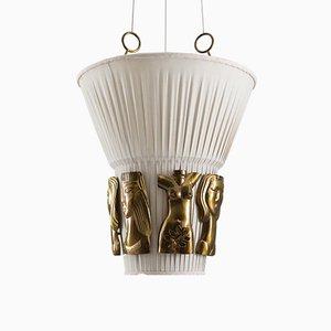 Lámpara de techo sueca de Hans Bergström para Ateljé Lyktan, años 40