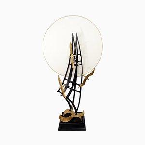 Lampada da tavolo placcata in oro di Lanciotto Galeotti per L'Originale, anni '70
