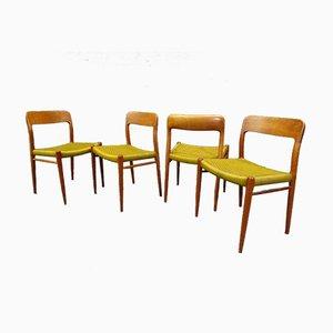 Esszimmerstühle von Nils O. Møller, 1960er, 4er Set