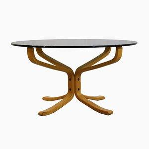 Table Basse Falcon Vintage en Verre par Sigurd Ressell pour Vatne Møbler, 1990s