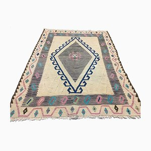 Vintage Turkish Wool Kilim Rug