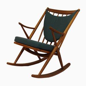 Rocking Chair Vintage en Teck par Frank Reenskaug pour Bramin, 1950s