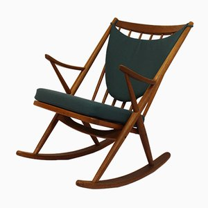 Vintage Teak Rocking Chair by Frank Reenskaug for Bramin, 1950s
