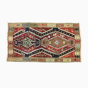 Small Vintage Turkish Kilim Rug
