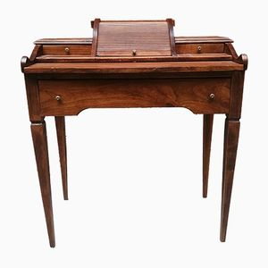 Vintage Inlaid Wooden Desk, 1920s