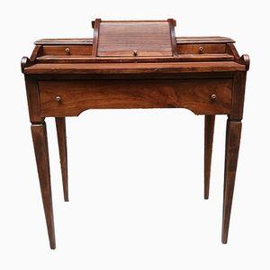 Vintage Schreibtisch aus Holz mit Intarsien, 1920er
