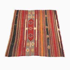 Türkischer quadratischer Vintage Teppich, 1960er