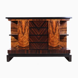 Art Deco Italian Walnut & Macassar Ebony Commode, 1930s