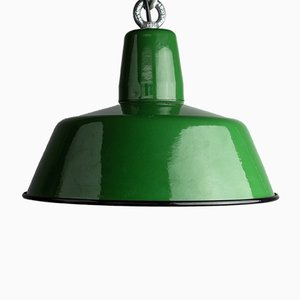 Industrial Model OBS-3 Enamel Lamp from Zaos, 1966